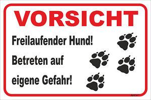 Genial Schild Vorsicht Tatzen 15x20-40x60cm Hund Teckel Jahre Lang StöRungsfreien Service GewäHrleisten Freilaufender Hund