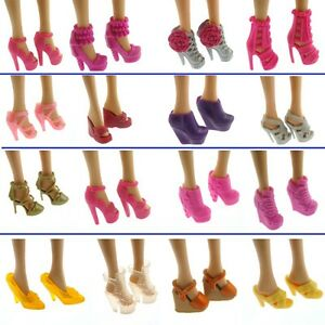 10-Pairs-Party-Daily-Wear-Dress-Outfits-Clothes-Shoes-For-Barbie-Doll-Gift-CJ