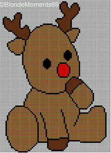 Baby Rudolph Reindeer Christmas Jumper Sweater Knitting Pattern #2 eBay
