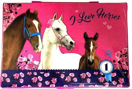 Pferd Horses Pony Einhorn 72 Teile MALSET MALKOFFER KOFFER BUNTSTIFTE FASERMALER