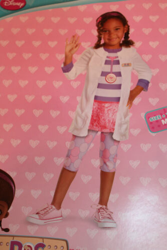 Toddler Girl 3T-4T Disney Doc McStuffins Costume Halloween Dress-Up Outfit NEW