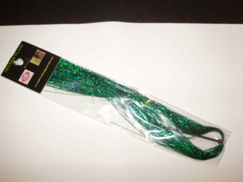 """GREEN HOLOGRAPHIC FLASH 1//69/"""" TINSEL FOR FLY TYING"""