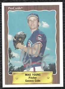 1990 ProCards Mike Young Signed Auto Rookie Card Geneva Cubs Anderson IN - MINT!