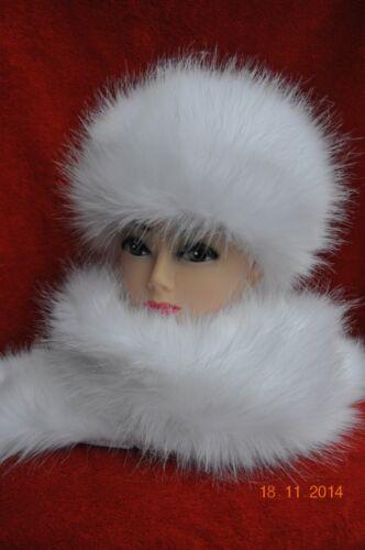 NUOVO cappello di pelliccia /& scialle sciarpa soffici elegante festosa rinbow Dash COLORI Cappelli di pelliccia