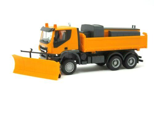 "HERPA Modell 1:87//H0 LKW Iveco Trakker 6x6 /""Winterdienst/"" orange #310727"