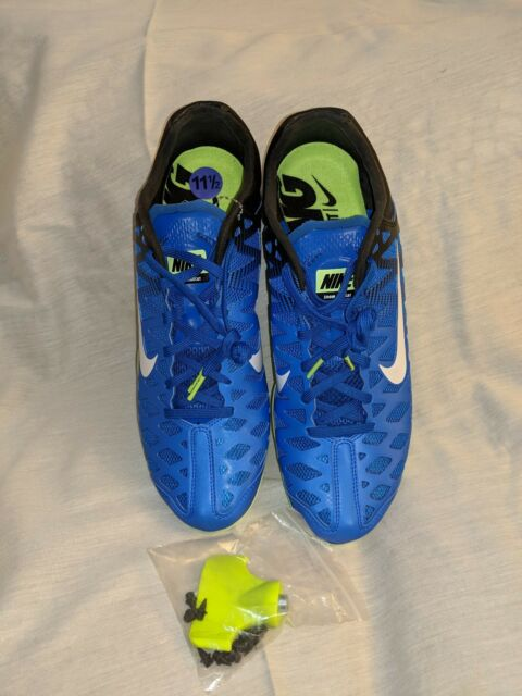 the best attitude 9aed6 3f247 Nike Mens Zoom Maxcat 4 Sprint Track Field Spikes Blue Volt 549150-413 Size  11.5