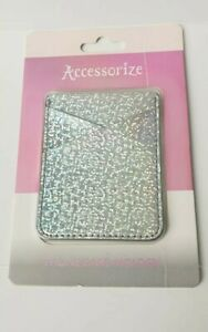 088ef43ba73 Details about Brand New Accessorize Silver Hologram Phone Case Card Slot  Oyster Holder iPhone