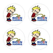 Hard Hat Calvin Peeing Biden Stickers 4 Pack Funny Vinyl Decal Tool Box Hh1074
