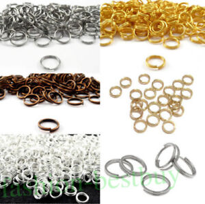 Double-Loop-O-ring-Split-Open-Jump-Rings-Link-Connector-Jewelry-Making-Findings