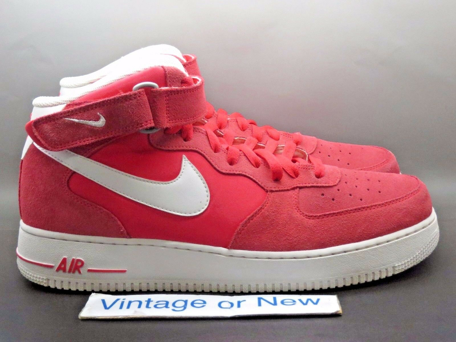 Nike Air Force 1 Mid '07 Fusion Red White 2013 sz 13