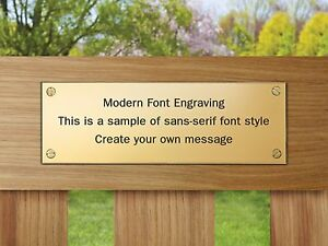 Details About Solid Memorial Brass Plaque 150x50mm Engraved Plaque Bench Plate 4 Holes 6x2