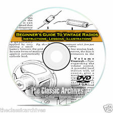 How to Repair Vintage Radios - Beginners Novice Instructional Guide Books CD C10