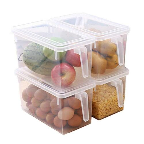 Kitchen Food Fruit Storage Containers Refrigerator Organizer Box with Lid Handle