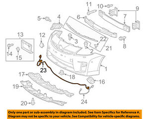 toyota oem 12 15 prius front bumper grille grill wire harness rh ebay com