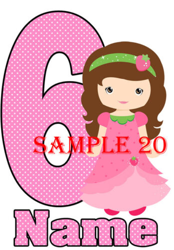 ANY AGE PERSONALISED FREE BIRTHDAY IRON ON TRANSFER Ref BDYGL 01-00