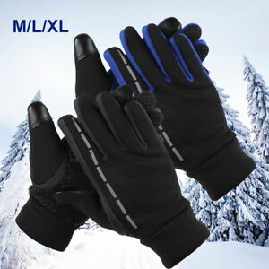 Herren Damen Warm Thermo Touchscreen Handschuhe Winter Wasserdicht Fahrrad DE