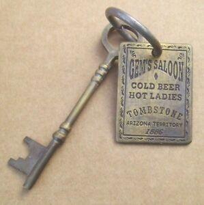 Ariz. brass Tombstone Scarf Slide // Wild Rag Slide: Gem Saloon