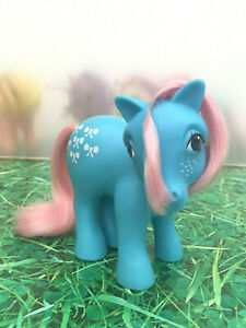 My-Little-Pony-G1-Bow-Tie-Shy-Pose-Vintage-Toy-Hasbro-1983-Collectibles-MLP-B