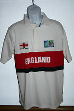 2003 iRB Australia Rugby World Cup | ENGLAND White Polo Shirt ~ Mens Size Medium