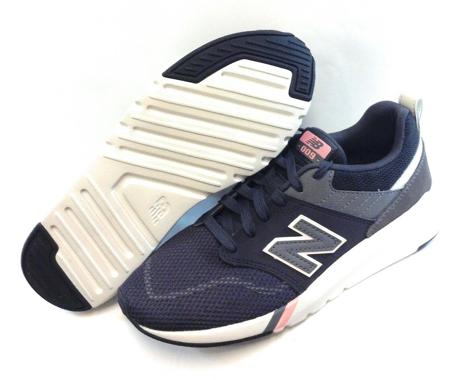 Chaussures Femme New Balance 009 PP1 Noir Gris Foncé Rose Athlétique Baskets Chaussures