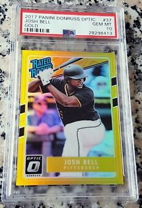 JOSH-BELL-2017-Donruss-GOLD-RATED-Rookie-Card-RC-PSA-10-SP-2-10-Pirates-18-HRs