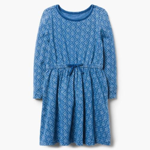 Nuovo con etichette Gymboree BLUE PRINT DRESS GIRL manica lunga 3,4,5//6,7//8,10//12,14