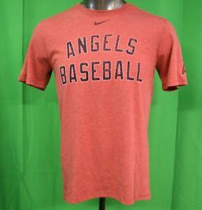 buy popular 1803c ab5ef Image is loading Nike-MLB-Mens-Los-Angeles-Angels-Baseball-Shirt-