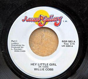 BLUES-HARMONICA-45-WILLIE-COBBS-COBB-Hey-Little-Girl-Greenwood-MS-NM