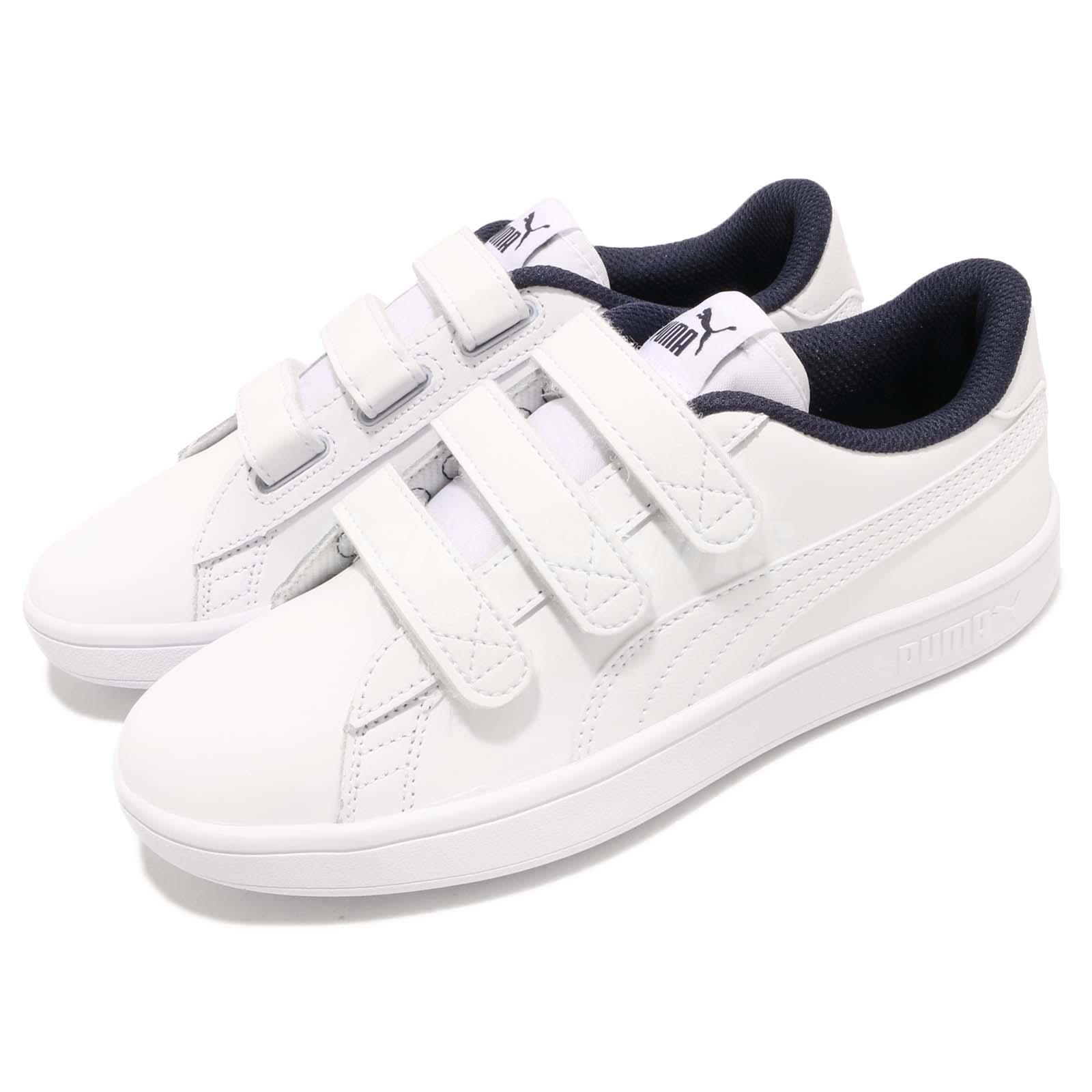 Puma Smash V2 V Strap Peacoat Navy White Men Casual shoes Sneakers 366910-02