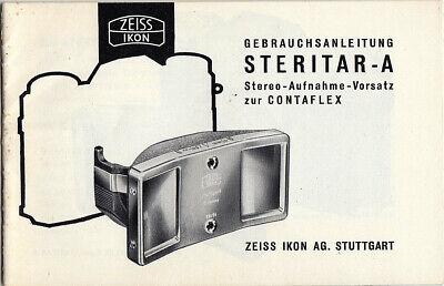 BúSqueda De Vuelos Zeiss Ikon Manual De Instrucciones Para Steritar-a Para Contaflex-instrucciones-itung Für Steritar-a Zur Contaflex - Anleitung Es-es