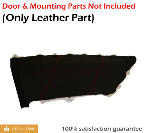 Insert Door Panel Synthetic Leather for Honda Civic Coupe 12-15 Red Stitch