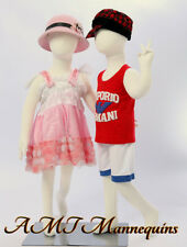 Two Mannequins Display Full Body Flexible Kids Girlboy 2 Children R8