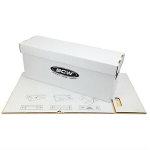 Comic-Book-New-Storage-Box-LONG-1-BCW-Holds-200-225-Stackable-Free-US-Shipping