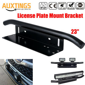 23-039-039-Bull-Bar-Front-Bumper-License-Plate-Mount-Bracket-LED-Light-Holder-Offroad