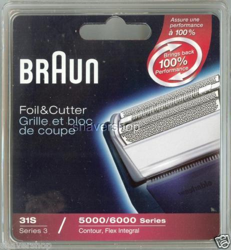 ORIGINAL BRAUN 5000//6000 CONTOUR FLEX XP Shaver FOIL+CUTTER 31S