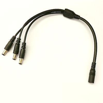 3 x MASCHIO OUT DC CAVO NERO LV Power Splitter TRIPLA 2,5 mm 1 X FEMMINA A