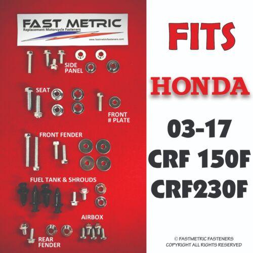 CRF-F HONDA 2003-2017 CRF150F /& CRF230F PLASTICS Fasteners