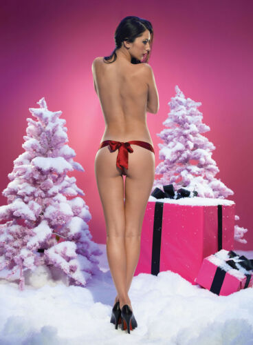 SHEER FRONT 100/% SILK THONG SATIN BOW RED OR BLACK  LEG AVENUE GREAT GIFT 4 HER