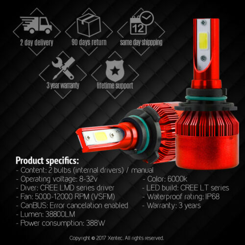 XENTEC LED HID Headlight Conversion kit 9005 HB3 6000K for 2013-2016 Ram 2500