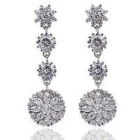 Beautiful Earings Cubic Zirconia Stone Shiny Classy Fashion Elegant Traditional