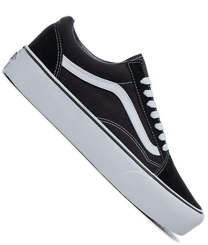 Vans Old Skool Platou Sneaker mit Platousohle schwarz/weiß
