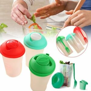 Dressing-Shaker-With-Fresh-Food-Lunch-To-Fruit-Serving-Cup-Container-Fork-N