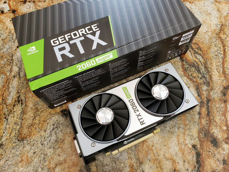 NVIDIA GeForce RTX 2060 Super 8GB GDDR6 Graphics Card Founders Edition (MINT)