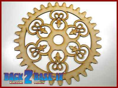 MDF Wooden Shapes Cogs 150mm High 3mm Thick Custom Cut x 5 pieces cog22