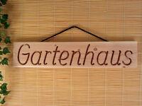 Gartenhaus, Holz Dekoschild, Wandschild, Douglasie Massiv Natur, 56 Cm Lang