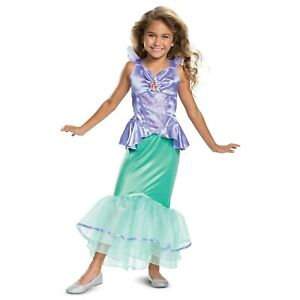 Disney-Ariel-Halloween-Costume-Princess-Dress-Girl-Toddler-3T-4T