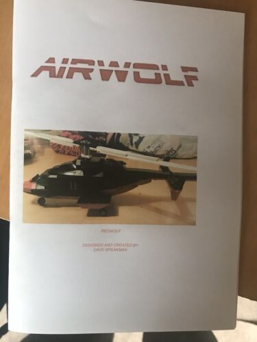 Airwolf 2 INSTRUCTIONS custom built lego Redwolf