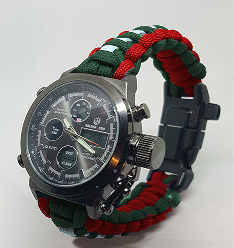Paracord Watch with The Buffs Colours Great Gift Water Resistant