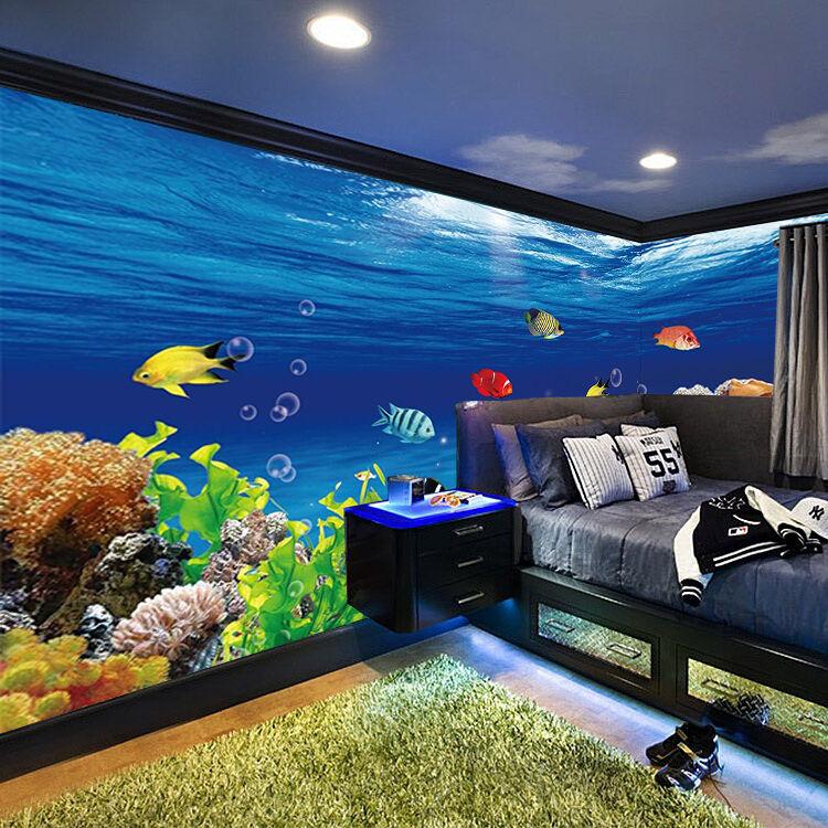 3D Unterwasserwelt 455 Tapete Wandgemälde Tapete Tapeten Familie Kinde DE Lemon