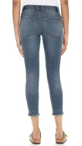 FREE PEOPLEDistressed Cropped Jeans $78 NWT TUPELO BLUE 26-27-29-30-31